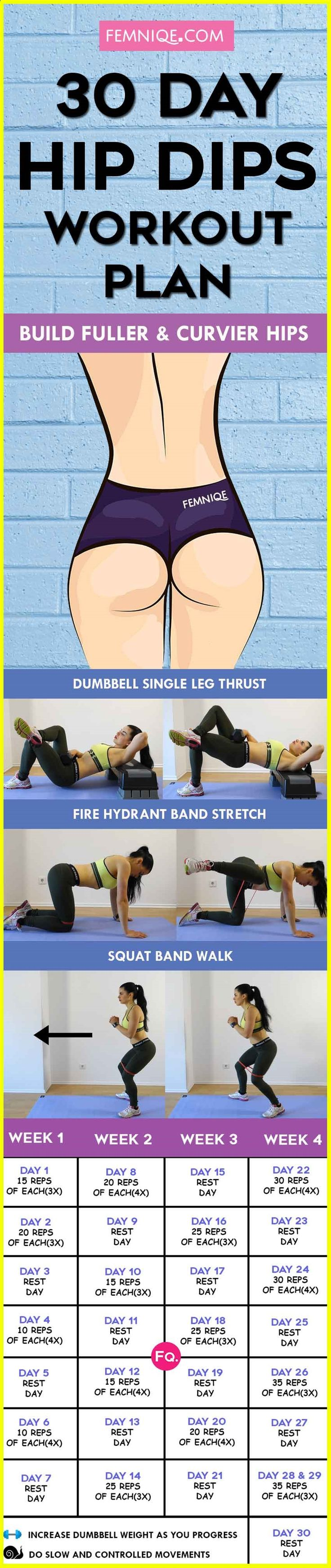 HIP DIPS WORKOUT PLANhttp://www.femniqe.com/2017/06/28/hip-dips-workout/