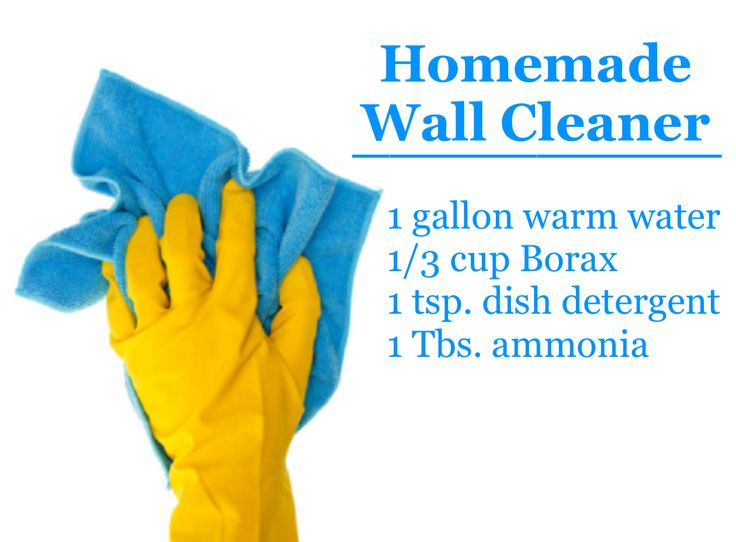Homemade Wall Cleaner 1 Gallon Warm Water 13 Cup
