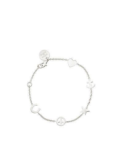 """Symbol Bracelet. Armband i äkta silver från SOPHIE BY SOPHIE med berlocker i olika motiv. Försluts med karbinhake. Längd ca 20 cm. Färg """"Silver"""" tillverkad av äkta silver. Färg """"Guld"""" tillverkat av guldpläterat silver."""