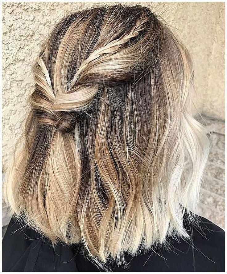Kurze Haare geflochtene Frisuren Zöpfe zur Hälfte #BraidHair #Braid #Hair klicken Sie jetzt für ... - #Braid #Braided