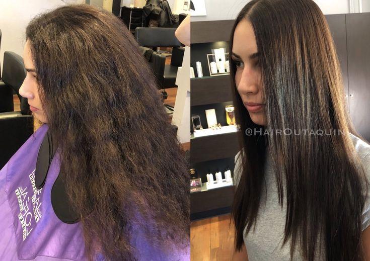 Permanent straightening #straightening #permanent #straighthair #smoothhair #shinyhair