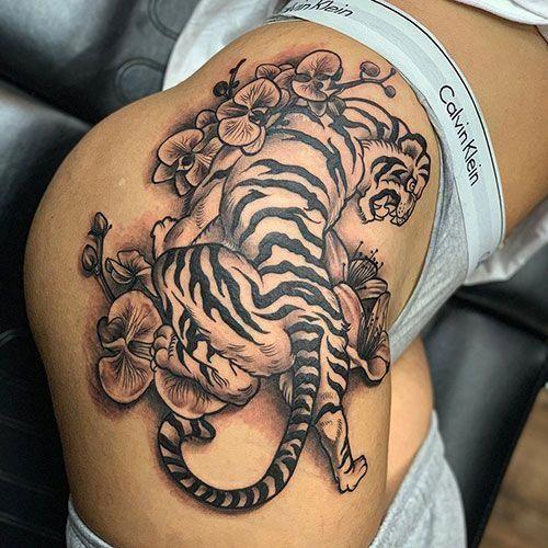 Sexy Thigh Tattoo Designs For Women – Best Thigh Tattoos For Women: Cute Leg Tat…