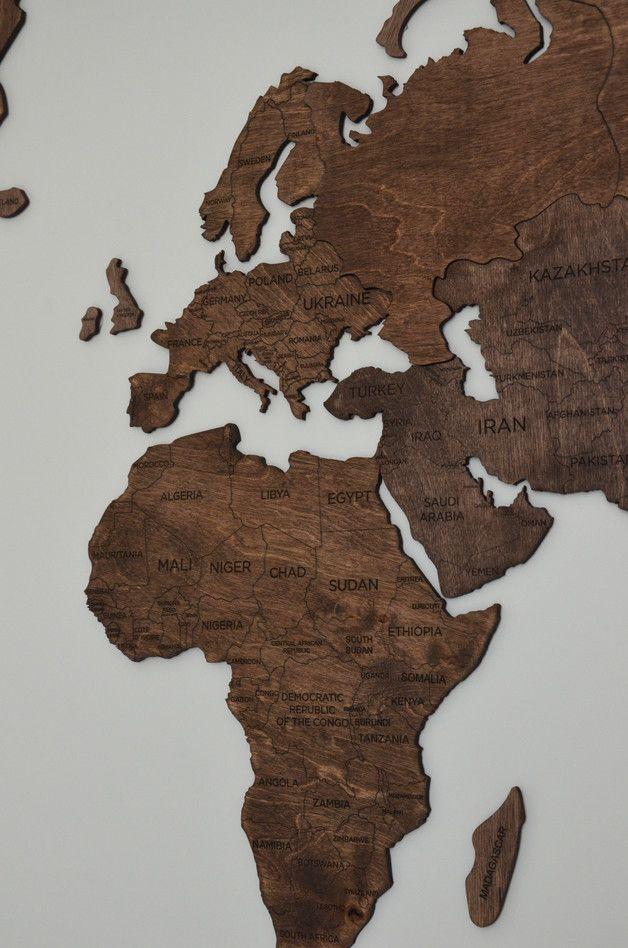 Herzlich willkommen! Unsere hölzerne Wand Weltkarte ist ein ausgezeichnetes Geschenk für Ihre Familie, Freunde oder Mitarbeiter! ✓ Wir haben unsere Holzkarte zu einem atemberaubenden und...