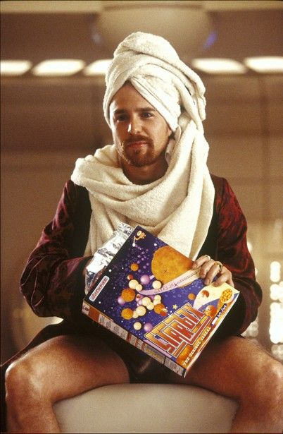 Sam Rockwell as Zaphod Beeblebrox. The Hitchhiker's Guide to the Galaxy.  :)
