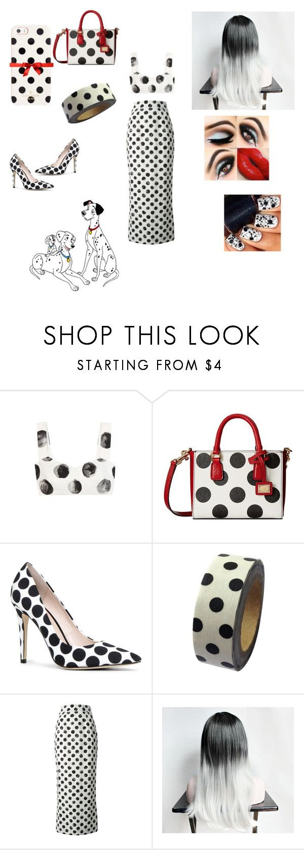 """""""100 Dalmatians"""" by alwaysmovingforward18 ❤ liked on Polyvore featuring Dolce&Gabbana, ALDO, Dress My Cupcake, Kate Spade, women's clothing, women's fashion, women, female, woman and misses"""