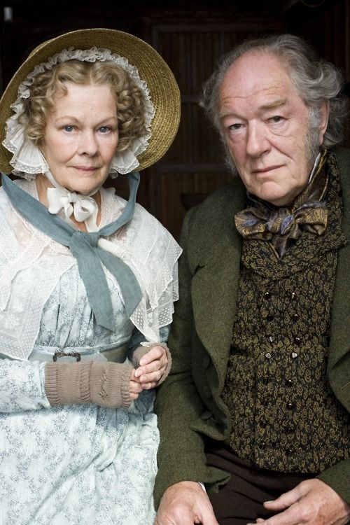 "Love can last a life time ""Cranford"" with Judi Dench as Miss Matty Jenkyns and Michael Gambon as Mr. Holbrook."