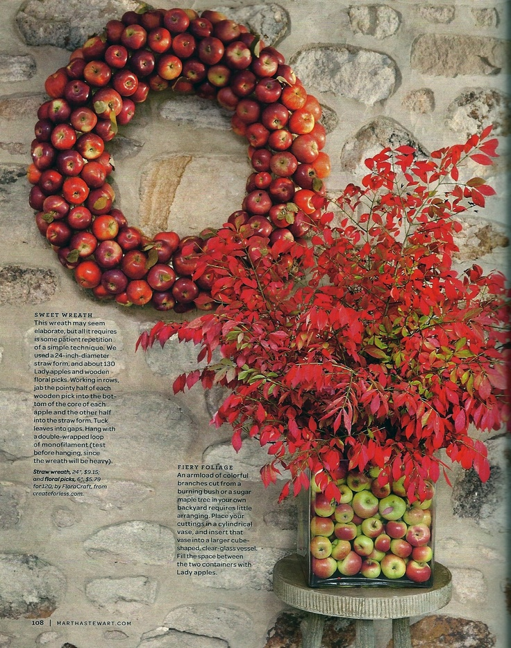 Lady Apple Wreath (from Martha Stewart Living mag)