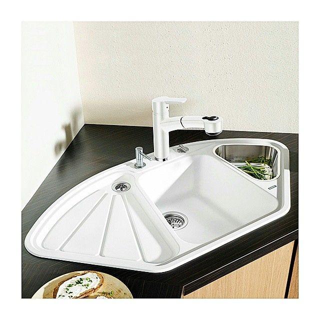 144 best i kitchen sinks i images on pinterest kitchen sinks kitchen and kitchen designs - Corner Kitchen Sink