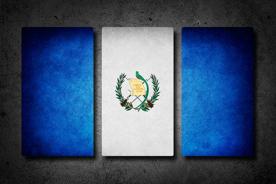 HOLIDAY SPECIAL: Guatemala Flag Triptych (Canvas, Metal or Matte Print)