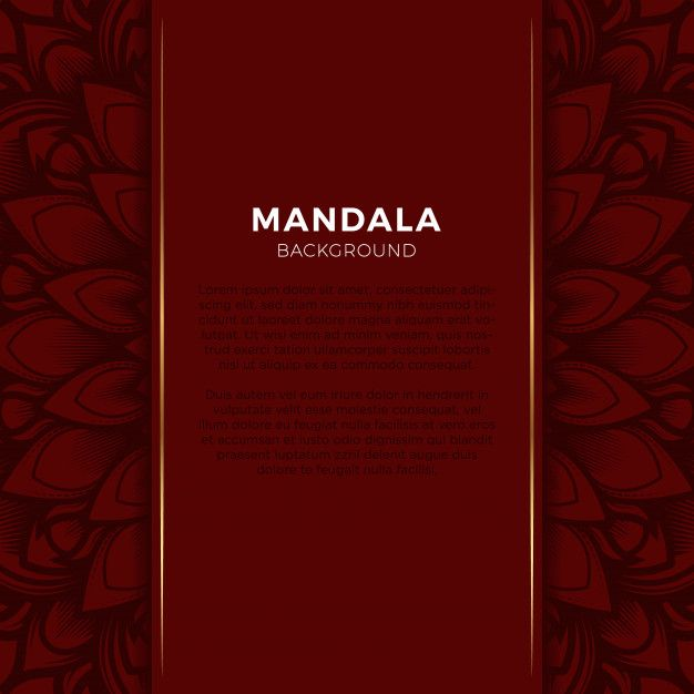 Luxury Red Mandala Background Mandala Background Luxury