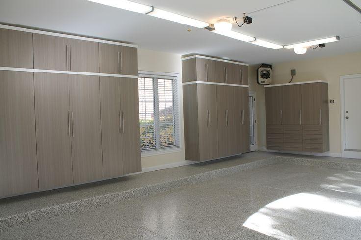 Suspended storage units in Garage