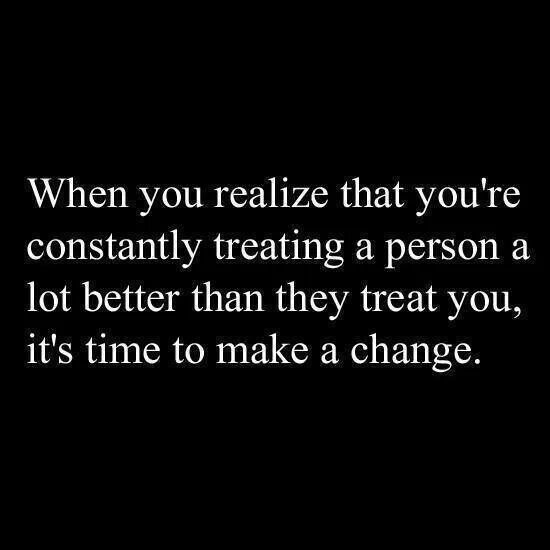This goes for anyone in your life that keeps pushing you away for no reason. Friends or Family! A person can only take so much of it until they stop trying.