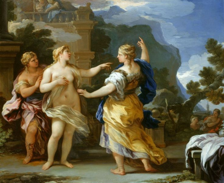 The Athenaeum - Venus Punishing Psyche with a Task (Luca Giordano - )