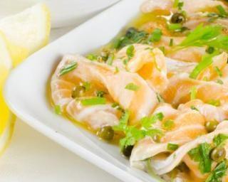 Carpaccio saumon POMME VERTE