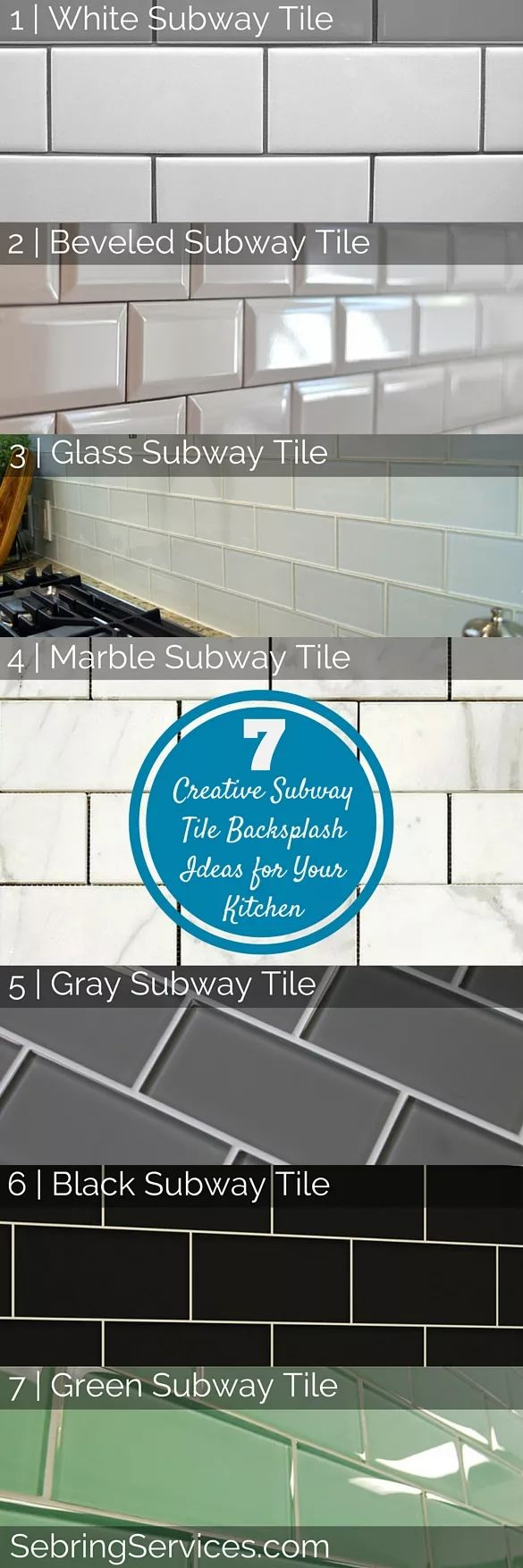 Kitchen Tiles Backsplash Ideas Part - 50: 7 Creative Subway Tile Backsplash Ideas For Your Kitchen