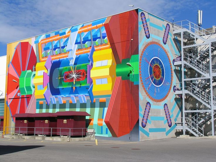 Mural Makes World's Biggest Atom Smasher Less Scary, More