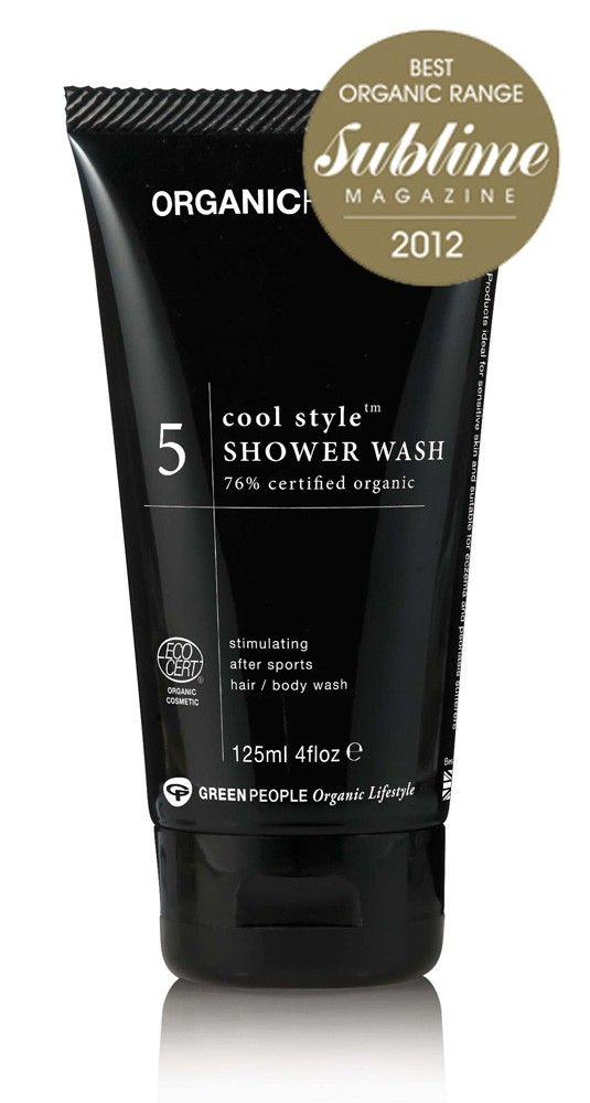 Organic Homme No.5 Cool Style Shower Wash 125ml: Green People  #amanprana #noblehouse #amanvida #bio #organic #mannen #showerwash #douchegel #greenpeople