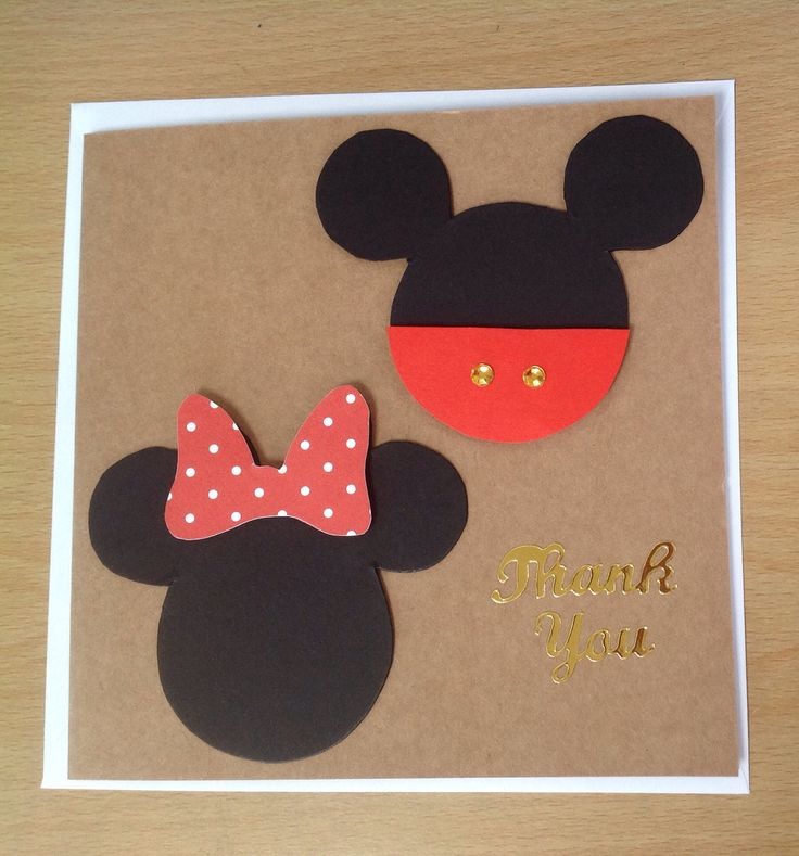 #Mouse #card #thank #thankyou #thankyoucard #red #bow #mouseface #spots