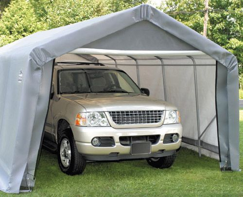 Portable Garage Frames : I guess could be practical but don t want to