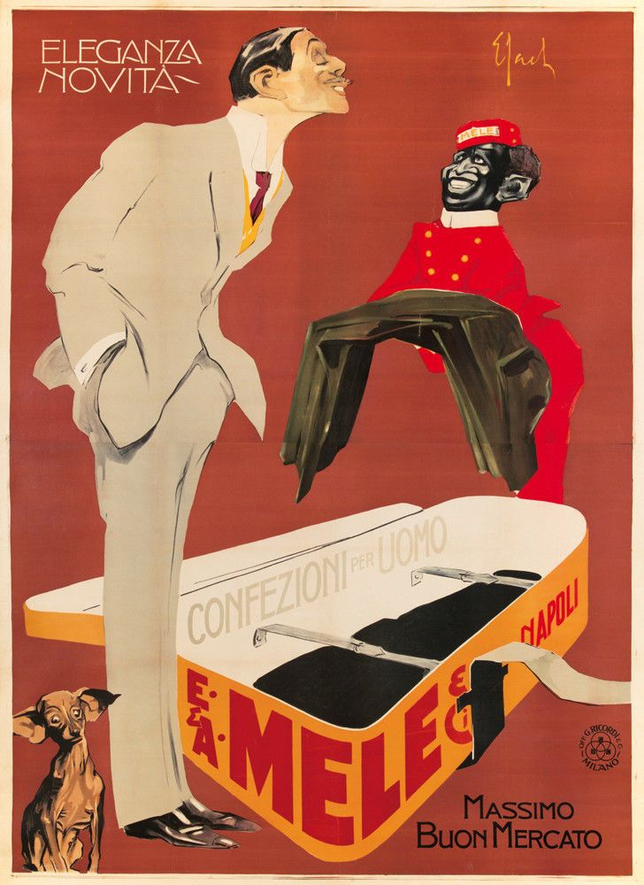 Original Vintage Poster Sacchetti Mele Italian Fashion Art Nouveau 1913 Huge Boy | eBay
