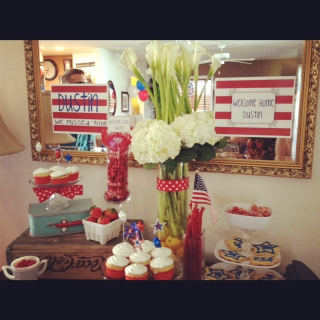 116 best images about military welcome home party on for Welcome home new baby decorations