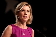 Laura Ingraham and her gold cross necklace that she wears all the time.