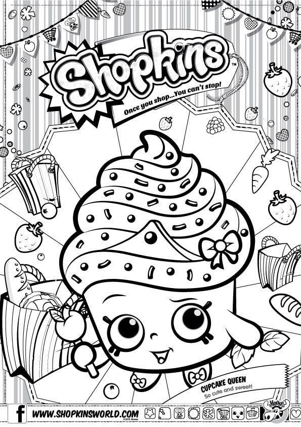 Shopkins Free Coloring Pages Shopkins Coloring Pages Season 1 Cupcake Queen In 2020 Shopkins Colouring Pages Shopkin Coloring Pages Shopkins