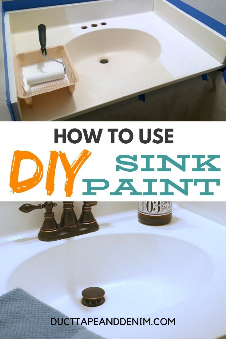 How To Paint A Sink A Diy Bathroom Project Your Budget Will Love Painting A Sink Bathroom Sink Diy Diy Bathroom [ 1102 x 735 Pixel ]