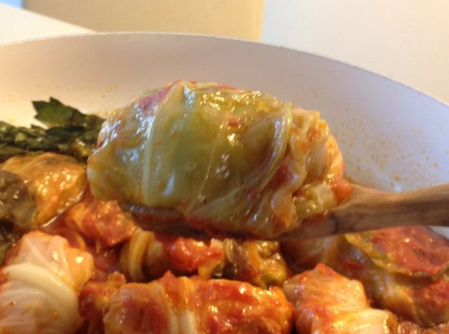 Stuffed cabbage with roast butternut squash and chickpeas - Galit's kitchen