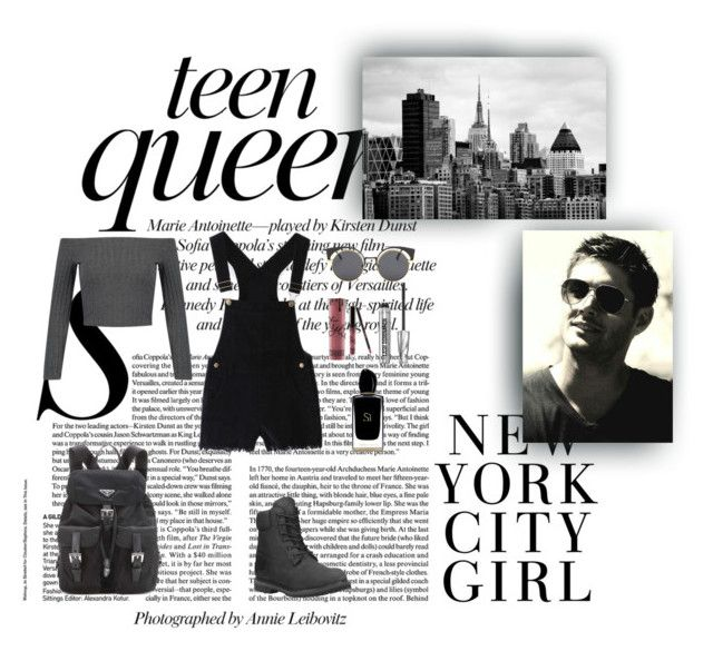 """""""Teen Queen"""" by xo-nataliiee-xo on Polyvore featuring Timberland, H&M, Prada, Kylie Cosmetics, Bare Escentuals and Giorgio Armani"""