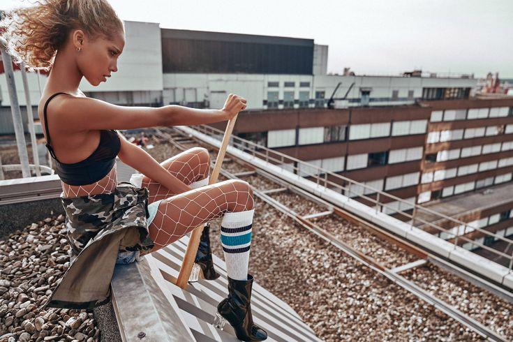 Фотосессия с Джанин Риззе на крышах Лос-Анджелеса