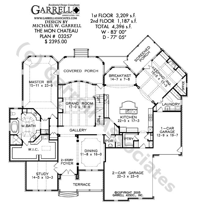 Mon chateau house plan house plans by garrell associates for French chateau floor plans