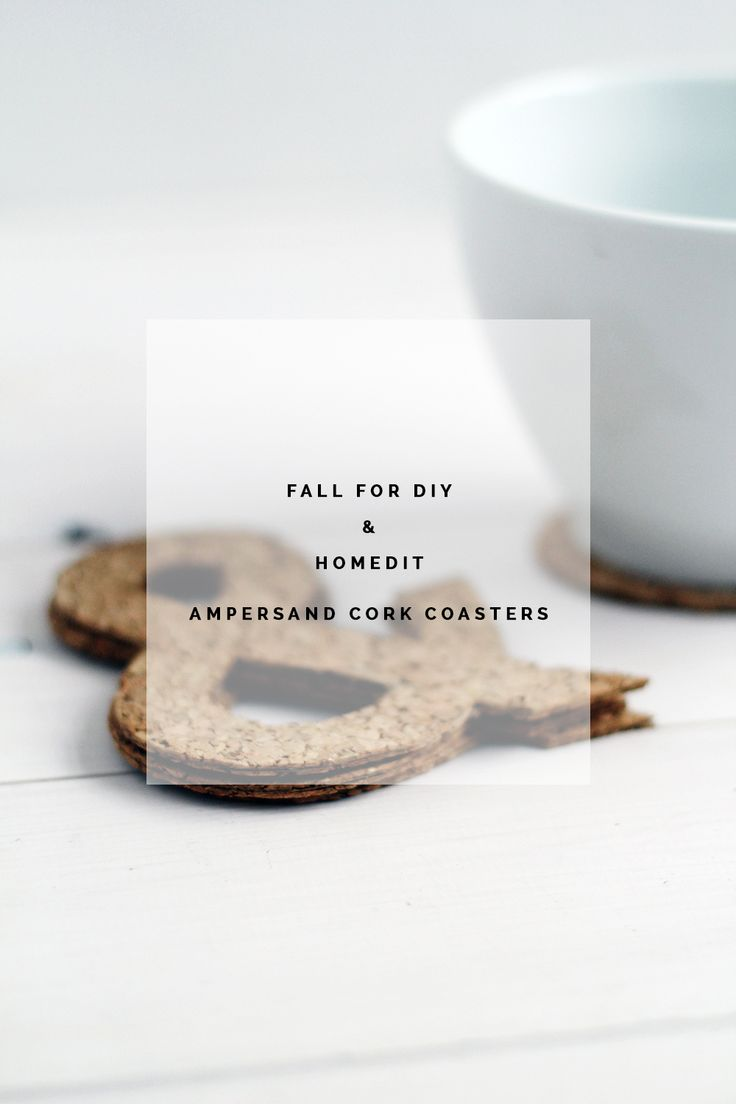 Fall For DIY & Homedit Ampersand Cork Coasters portrait