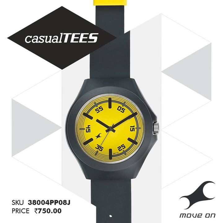 If you like it easy, you're going to want one of the #CasualTEES watches! http://fastrack.in/casualtees/
