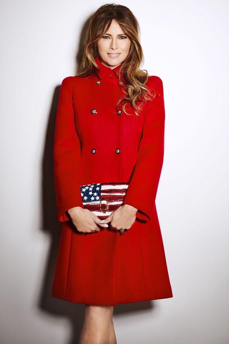 Melania Trump's American Dream  - Red Coat  - HarpersBAZAAR.com