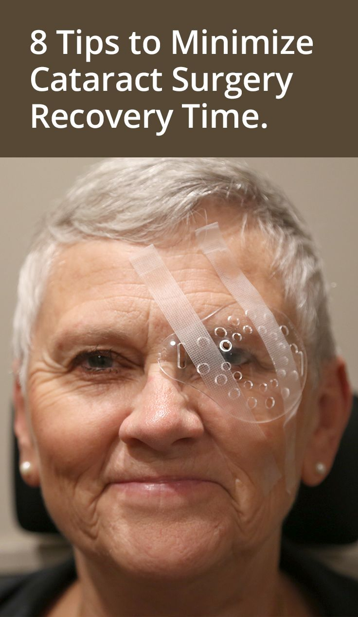 What to expect when you recover from cataract surgery.