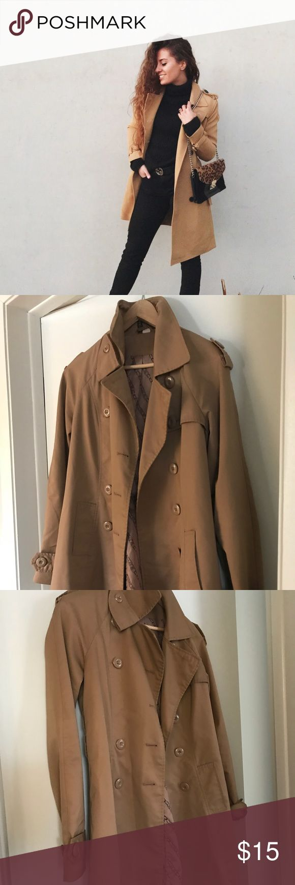 Trench coat Beautiful coat. Good condition. Belt included. From H&M divided collection. H&M Jackets & Coats Trench Coats