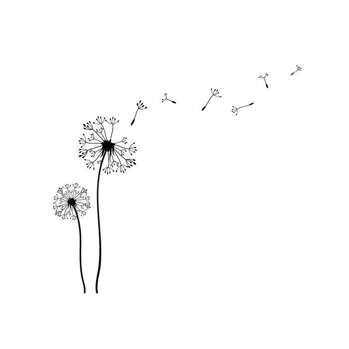 Dandelions Wall Decal Dandelion Tattoo Design Dandelion Wall Decal Dandelion Drawing