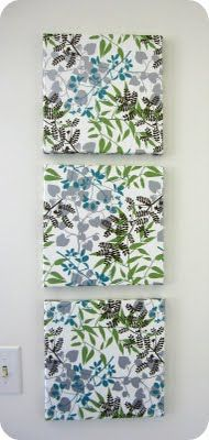 Tissue paper canvases