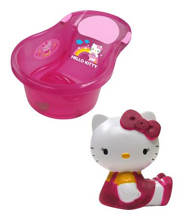This Hello Kitty Tub & Squirter Toy Set is perfect! #zulilyfinds