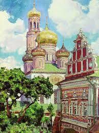 Симонов монастырь.Облака и золотые купола, 1927