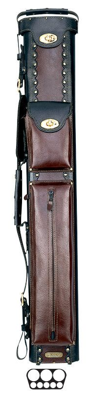 3 Butt and 5 Shaft Cowboy Pool Cue Cases