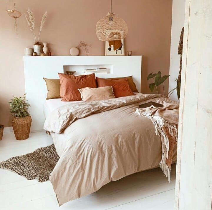 Bedroom In Pink Earthy Tones Warm Home Decor Warm Bedroom Bedroom Inspirations