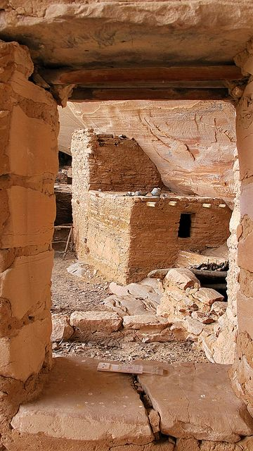 Window - full - Keet Seel - Kawestima - Navajo National Monument by Al_HikesAZ, via Flickr