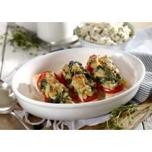 Ovnsbakt laks med tomat og spinat | TINE.no