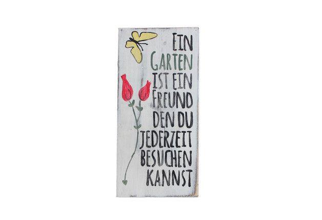 Dieses Holzschild ist für alle Garten Liebhaber gedacht. Zur Deko im Haus, aber auch im Garten ein witziges Accessoire.   Das Schild hat eine kleine Öse zu aufhängen. Auf Wunsch mit...