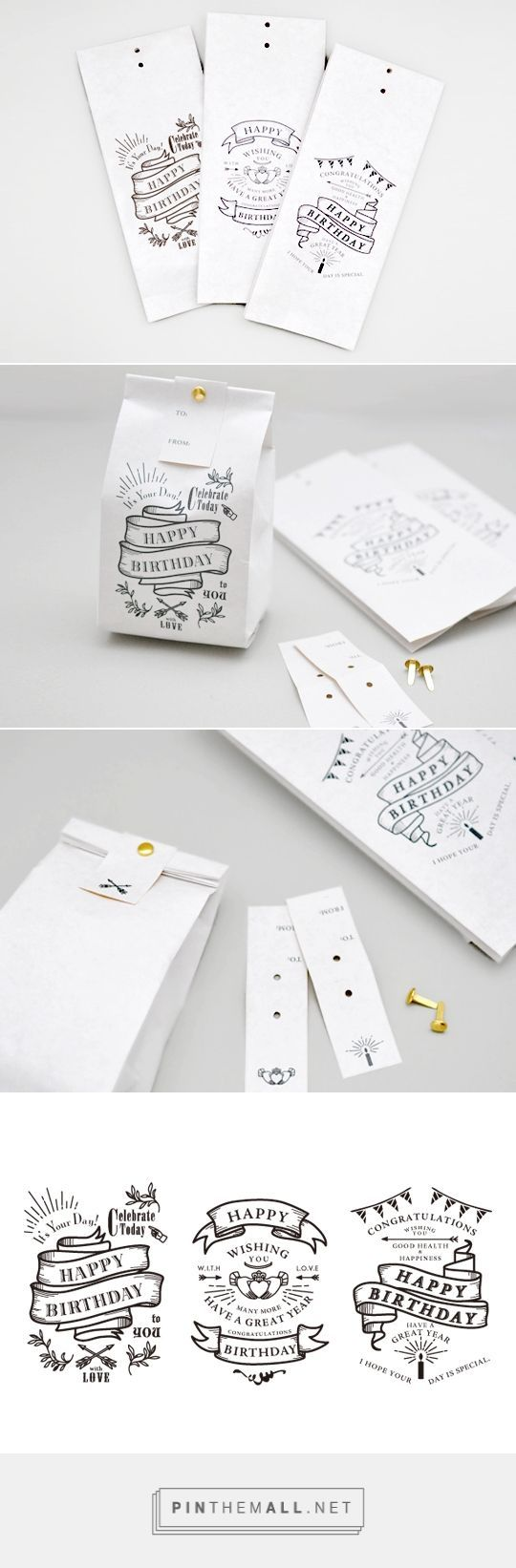 Birthday #packaging via KNOOP curated by Packaging Diva PD. So simple anybody could do this clever idea created via http://www.knoop-works.com/?pid=69194656: