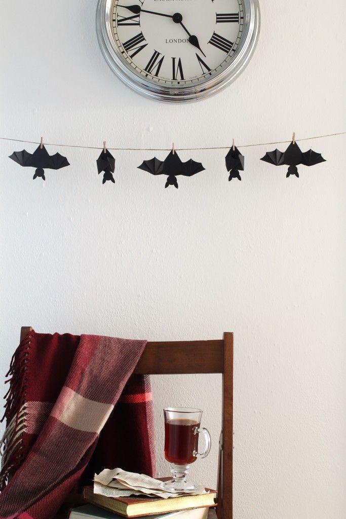 Halloween hanging bat garland 1253