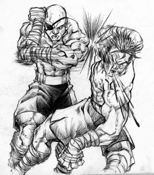 Thai Boxing With Sagat by BiggCaZ on deviantART