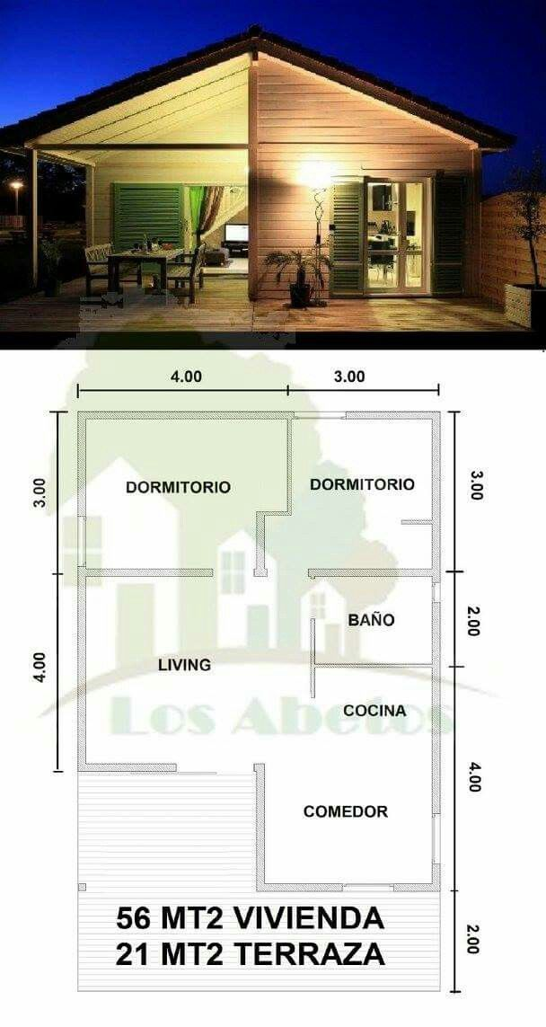 983 best PLANOS CASAS images on Pinterest | House floor plans, Small ...